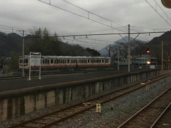 遠目に見た秩父鉄道車両公園