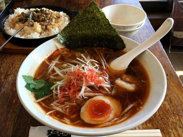 海老出汁醤油麺 940円 + 麺ハーフ -100円