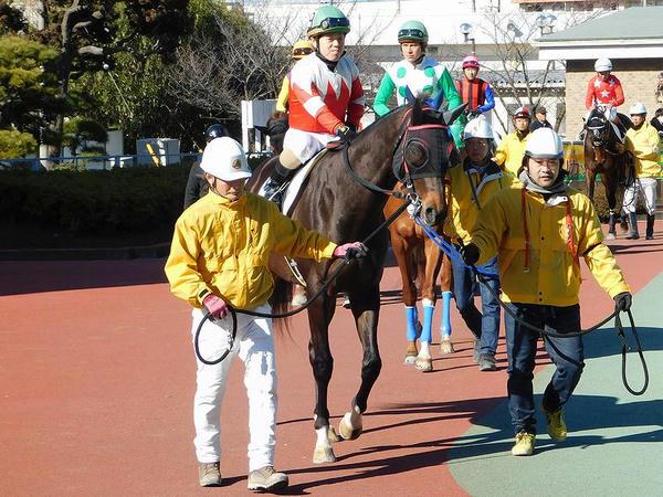 山本聡也騎手(第7レースのパドックにて)