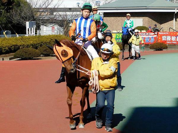 中島龍也騎手(第3レースのパドックにて)