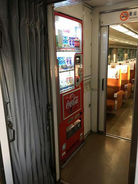 1号車の自動販売機