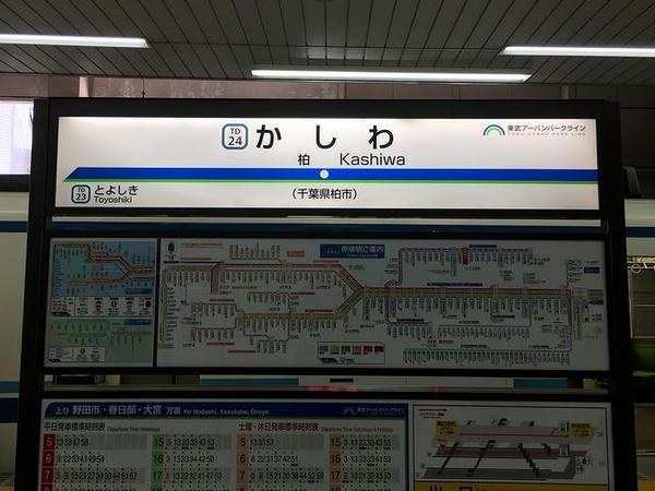 柏駅の駅名票