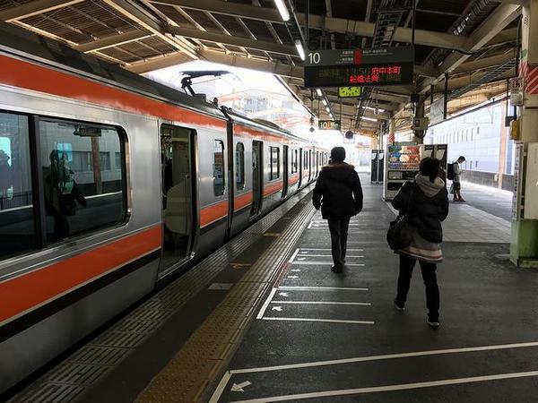 西船橋駅でJR武蔵野線に乗り換え