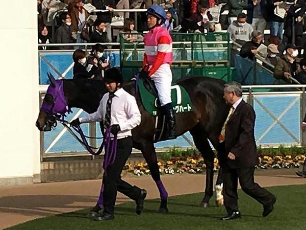 10番人気の(7)キングハート号と北村宏司騎手