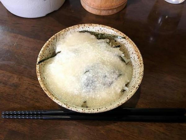 朝らぁ定食Bのとろろめし(単品150円)