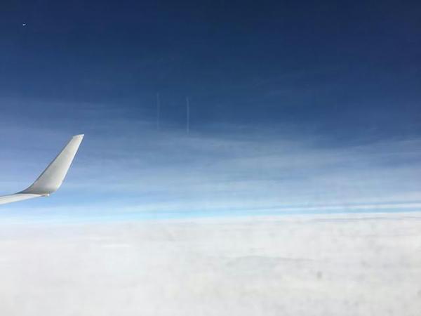 上空の様子(往路)