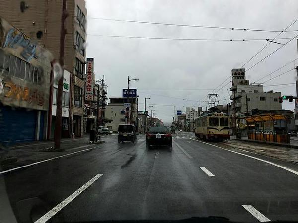 高知市内を走行