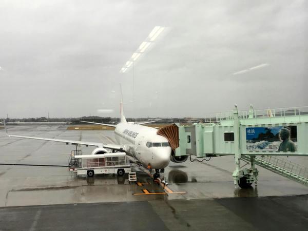 出発を待つJAL492便