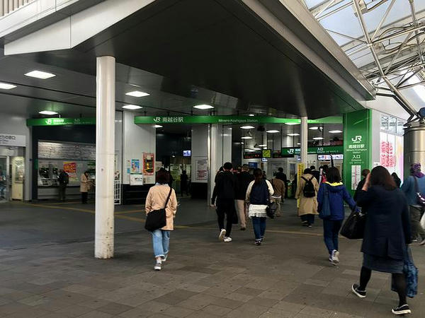 東武の新越谷駅で降りJRの南越谷駅へ