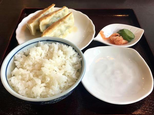 餃子(3こ)セット(Aセット) 350円(税別)