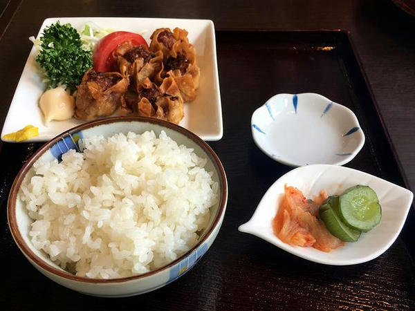 揚げシュウマイセット(Aセット) 330円(税別)