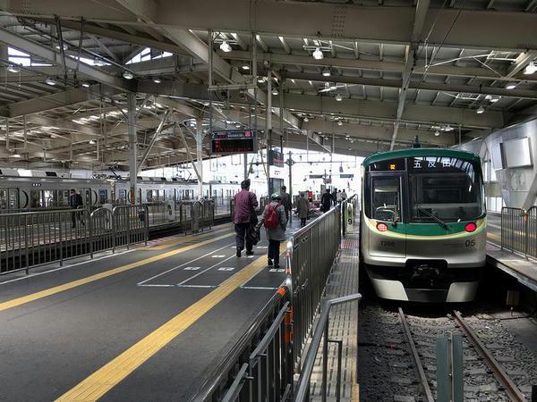 蒲田駅に到着して折り返しとなった列車