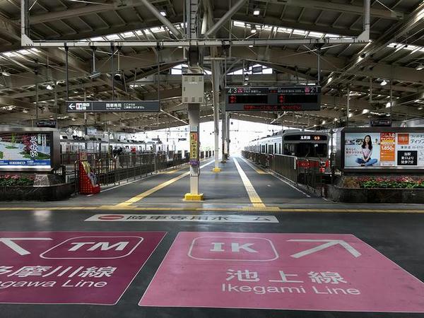 蒲田駅改札口付近からホーム方向を望む