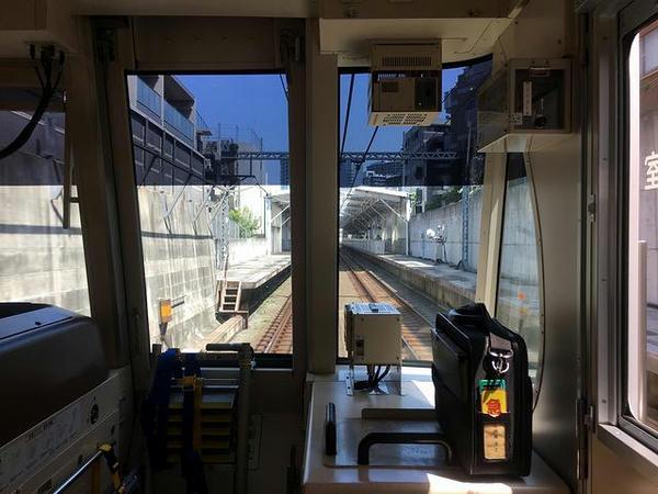不動前駅進入