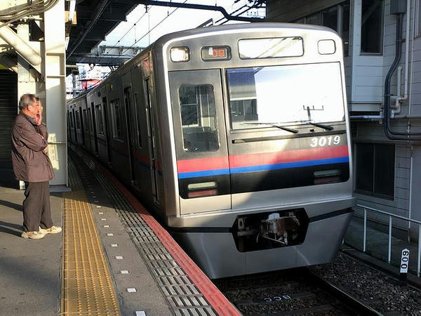 乗車した京成電鉄の上り普通列車