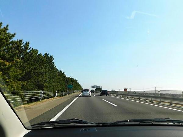 仙台東部道路を走行