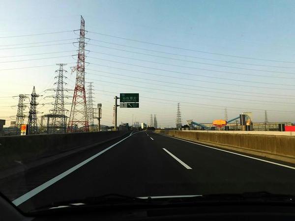仙台港北IC付近