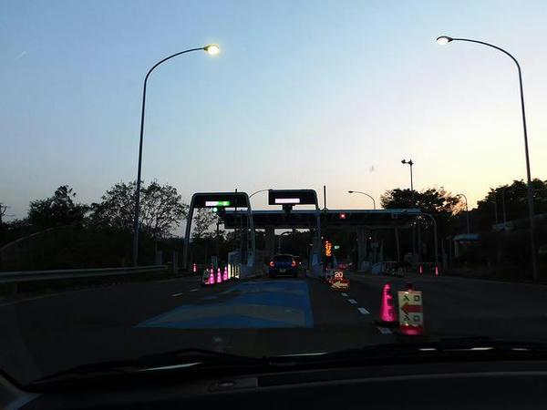 村田ICから東北道へ