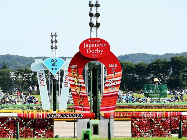 第85回日本ダービー仕様のゴール板