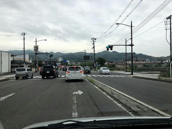 普段通らない道を通って福島西ICまで