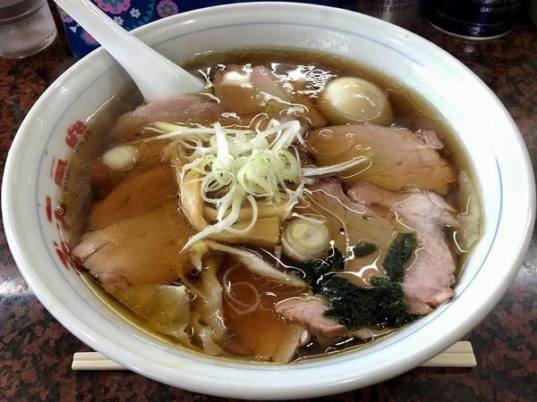 チャーシューワンタンメン 1000円(税抜) + 煮たまご 100円(税抜)