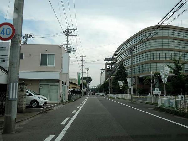 福島競馬場付近に到着