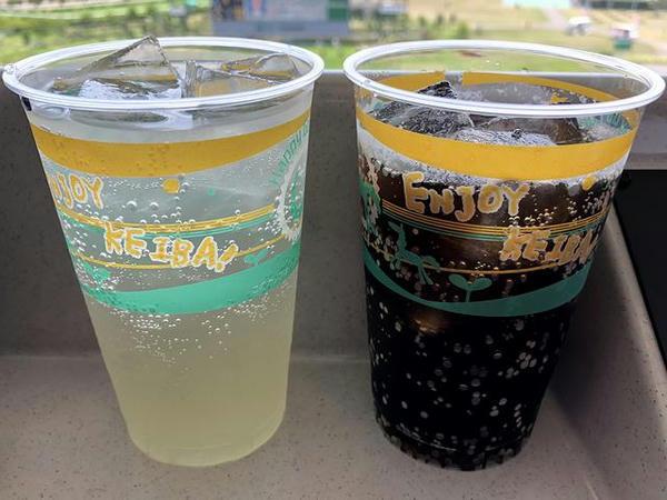 チュウハイ(レモン) 420円 と コーラ 150円