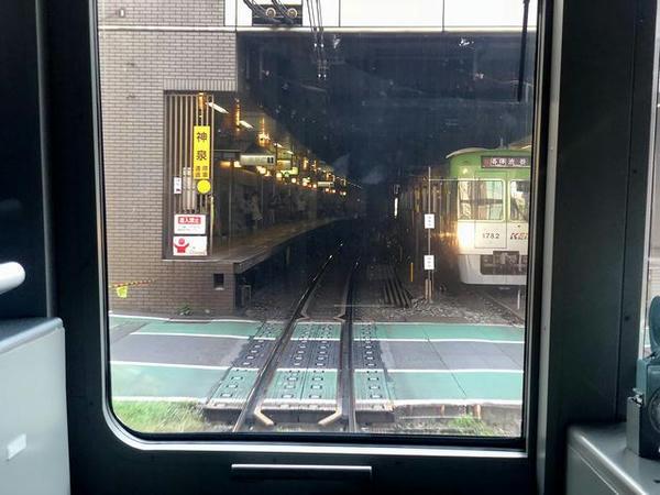 神泉駅進入