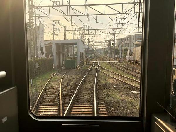 永福町駅発車直後