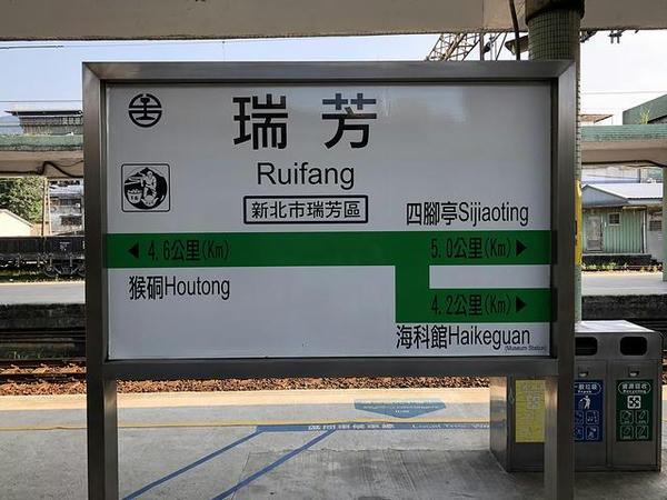 瑞芳駅の駅名標