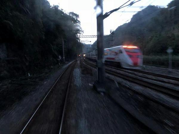 三貂嶺駅手前で宜蘭線に合流するあたり