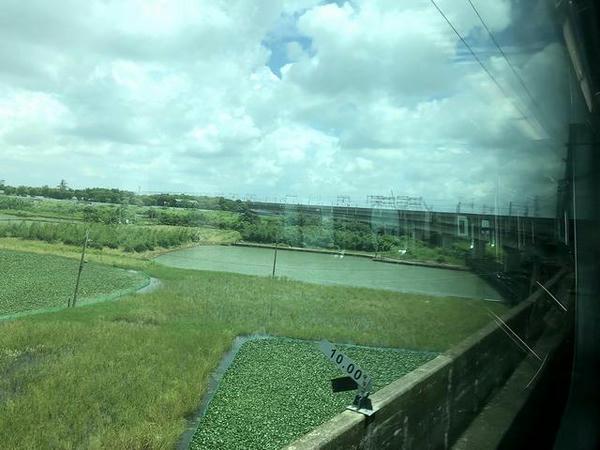 車窓から見た高鉄の路線