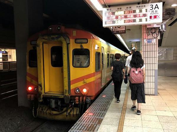 台北駅に到着した109次自強号