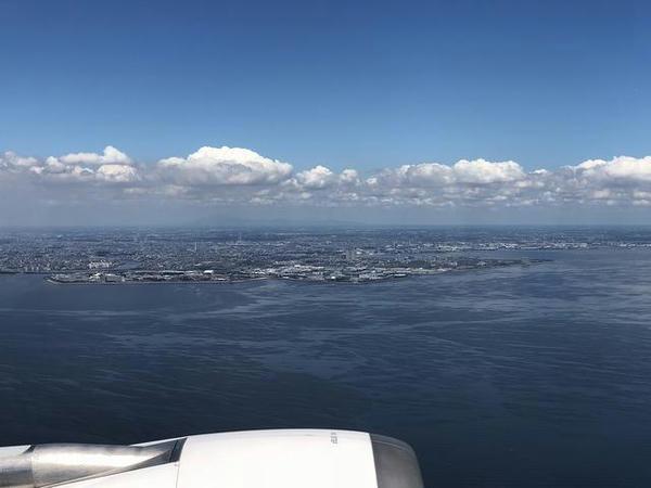 離陸直後の景色