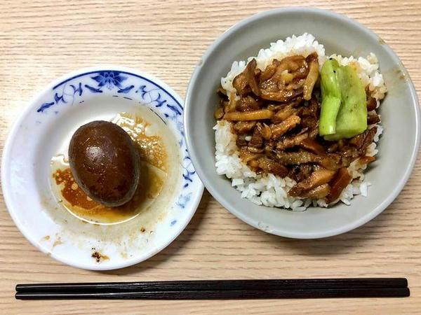 魯肉飯(小)と魯鴨蛋