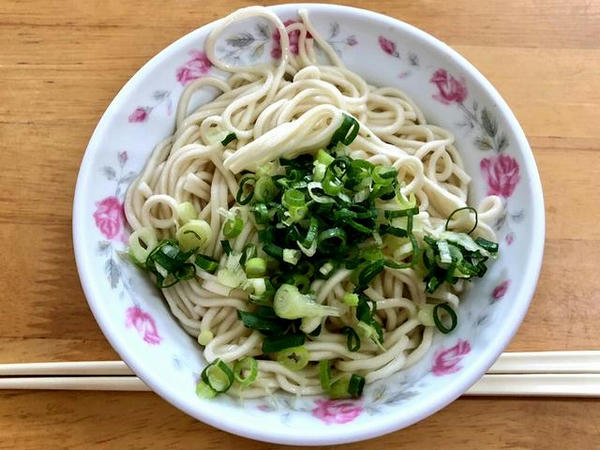 乾麺(小椀)と魚丸湯