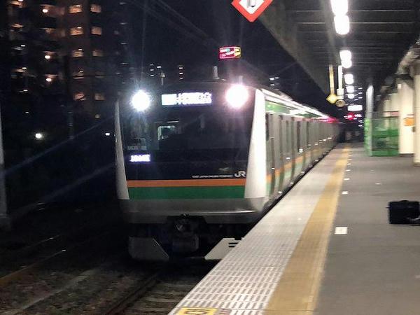 宇都宮駅でJR宇都宮線下り最終列車に乗り換え