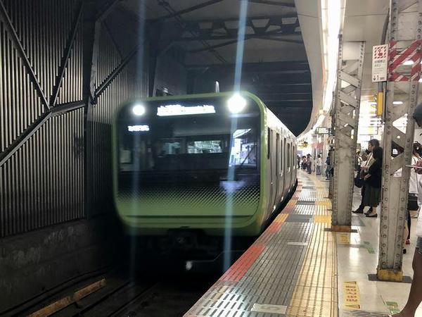 山手線で新宿へ