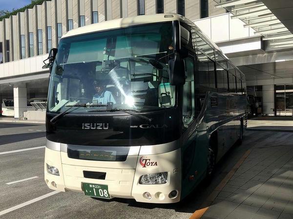 バスタ新宿に入ってきた高速バス