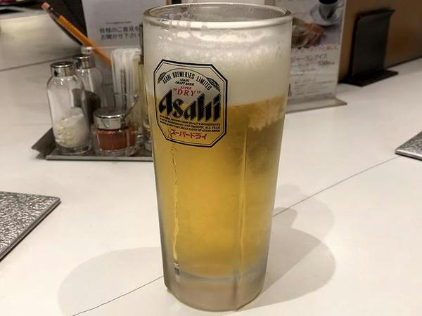 生ビール アサヒスーパードライ(中) 580円