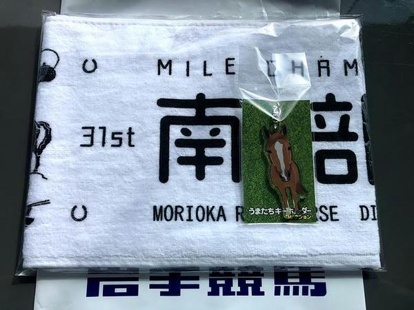 第31回マイルチャンピオンシップ南部杯のタオルとメイセイオペラ号のキーホルダー