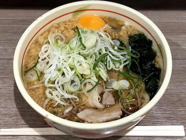 特製肉(そば) 500円 + 玉子(生) 60円