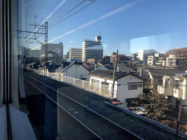 田無駅手前でちょっとだけ高架線に