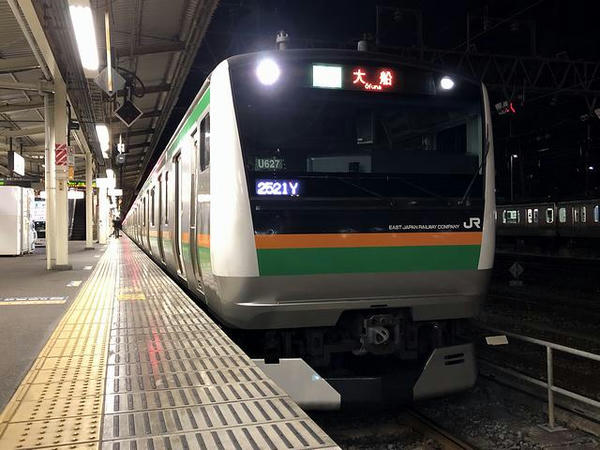 宇都宮駅に停車中の湘南新宿ライン普通列車