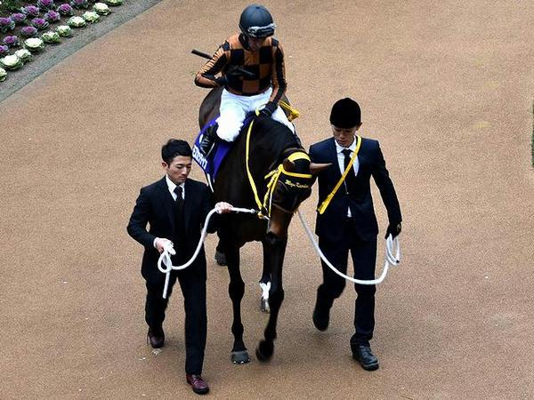 (3)モズカッチャン号とM・デムーロ騎手