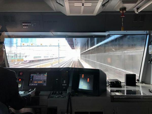 東京総合車両センター田町センターと建設中の高輪ゲートウェイ駅