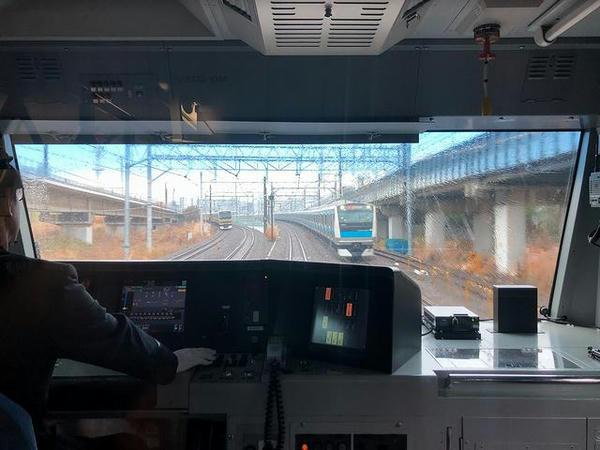 横須賀線・湘南新宿ラインと合流