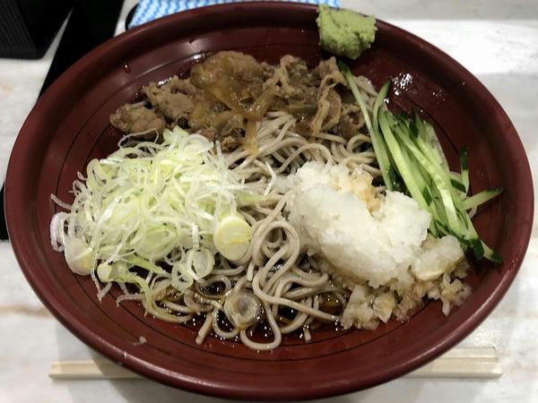 冷し牛肉おろし(そば) 650円