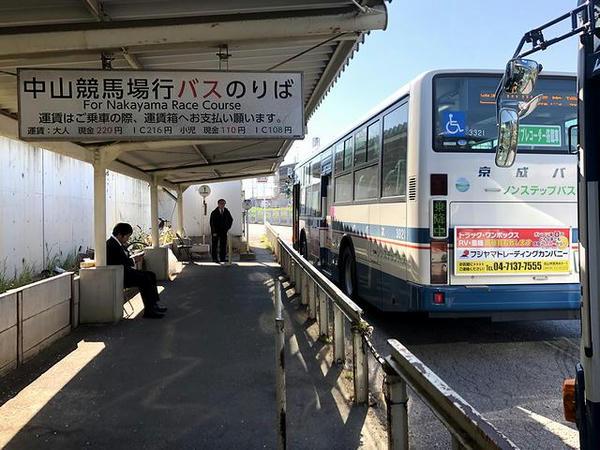 中山競馬場直通バス乗り場