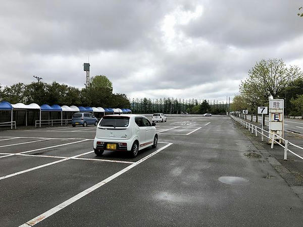 到着時の駐車場